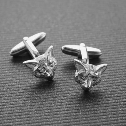 STERLING SILVER FOX CUFFLINKS