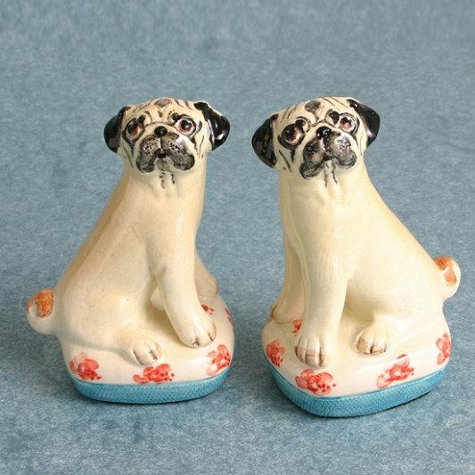 Small Pug Dog Figures
