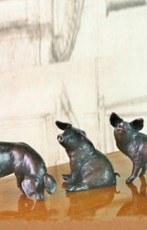 THREE LITTLE PIG BRONZES   LIMITED EDITION