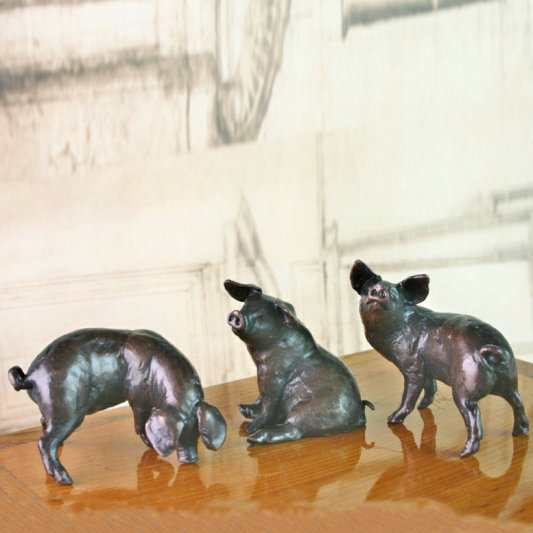 Three Little Pig Limited Edition Bronzes