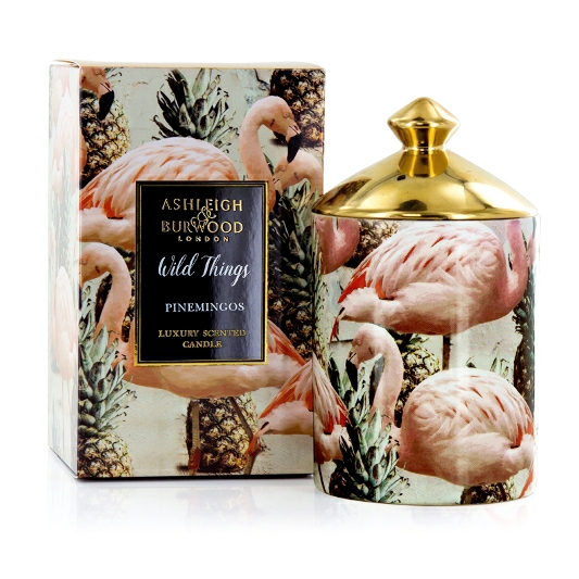 Wild Things Pinemingos Candle,coconut & Lychee Candle Pot