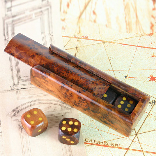 Wooden Dice Game Box