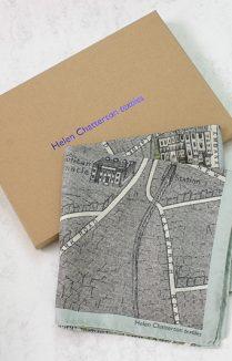 Vintage London Map Silk Scarf, Ladies Gift Idea, Ladies Silk Scarf