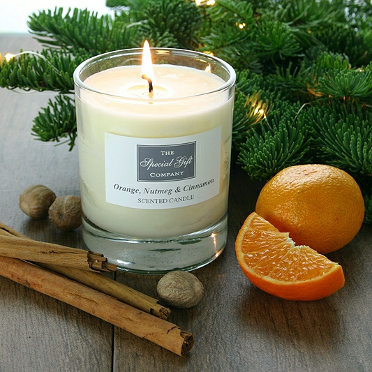 Orange, Nutmeg & Cinnamon Candle, Natural Candle, Scented Candle, Christmas Candle