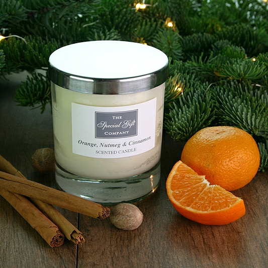 Orange, Nutmeg & Cinnamon Candle, Christmas Candle, Scented Candle, Natural Candle, Gift For Home