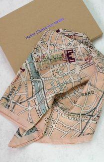 PARIS VINTAGE MAP SILK SCARF