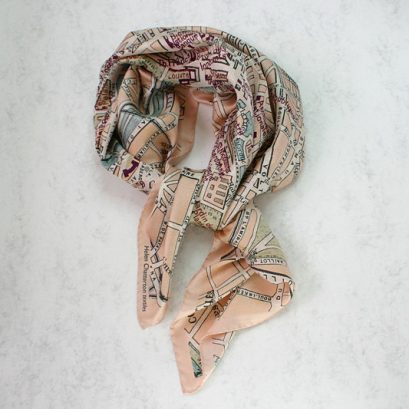 Parsi Vinatge Map Silk Scarf, Ladies Silk Scarf