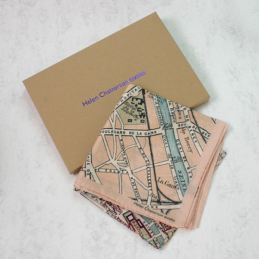 Paris Map Silk Scarf, Ladies Silks Scarf, Luxury Silk Scarf