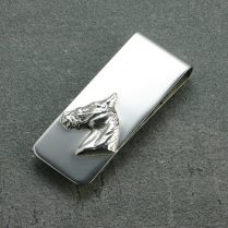 SILVER MONEY CLIP HORSE HEAD
