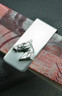 Silver Money Clip Horse Head, Gift For Him, Man's Accesory