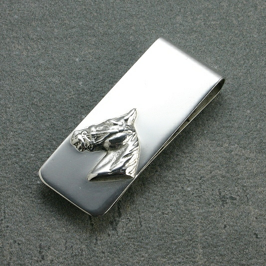 Silver Money Clips Horse Head, Gift For Him,