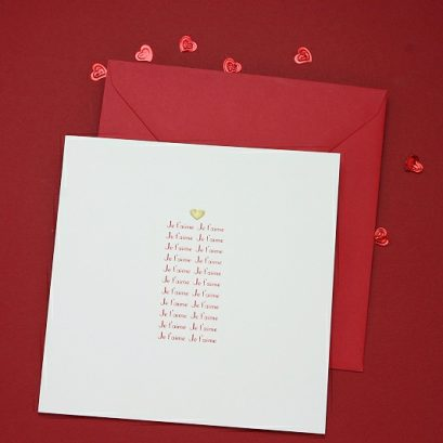 JE T'AIME VALENTINE'S CARD