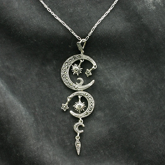 Beautiful SUN, MOON & STAR PENDANT NECKLACE | The Special Gift Company NN42