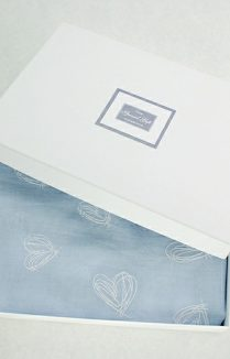 Embossed Hearts Scarf Gift Box