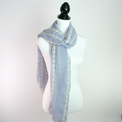 Embroidery Linked Square Scarf