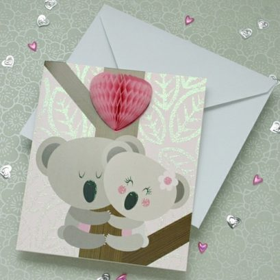 KOALA BEARS VALENTINE'S CARD