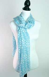 Turquoise Oval Linked Scarf