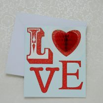 """LOVE"" VALENTINE'S CARD"