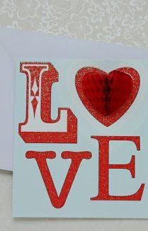 """LOVE"" VALENTINE'S CARD"