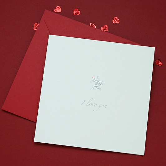 I Love You Cupid Valentine Card