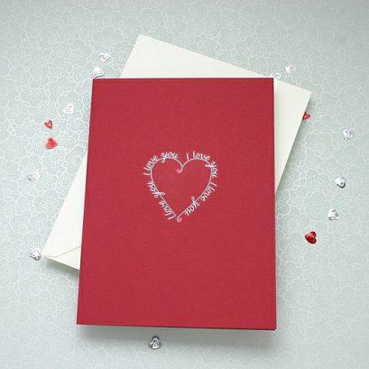 I LOVE YOU HEART VALENTINE'S