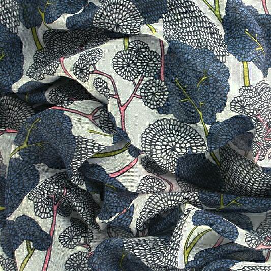 Oriental Tree Scarf Pattern