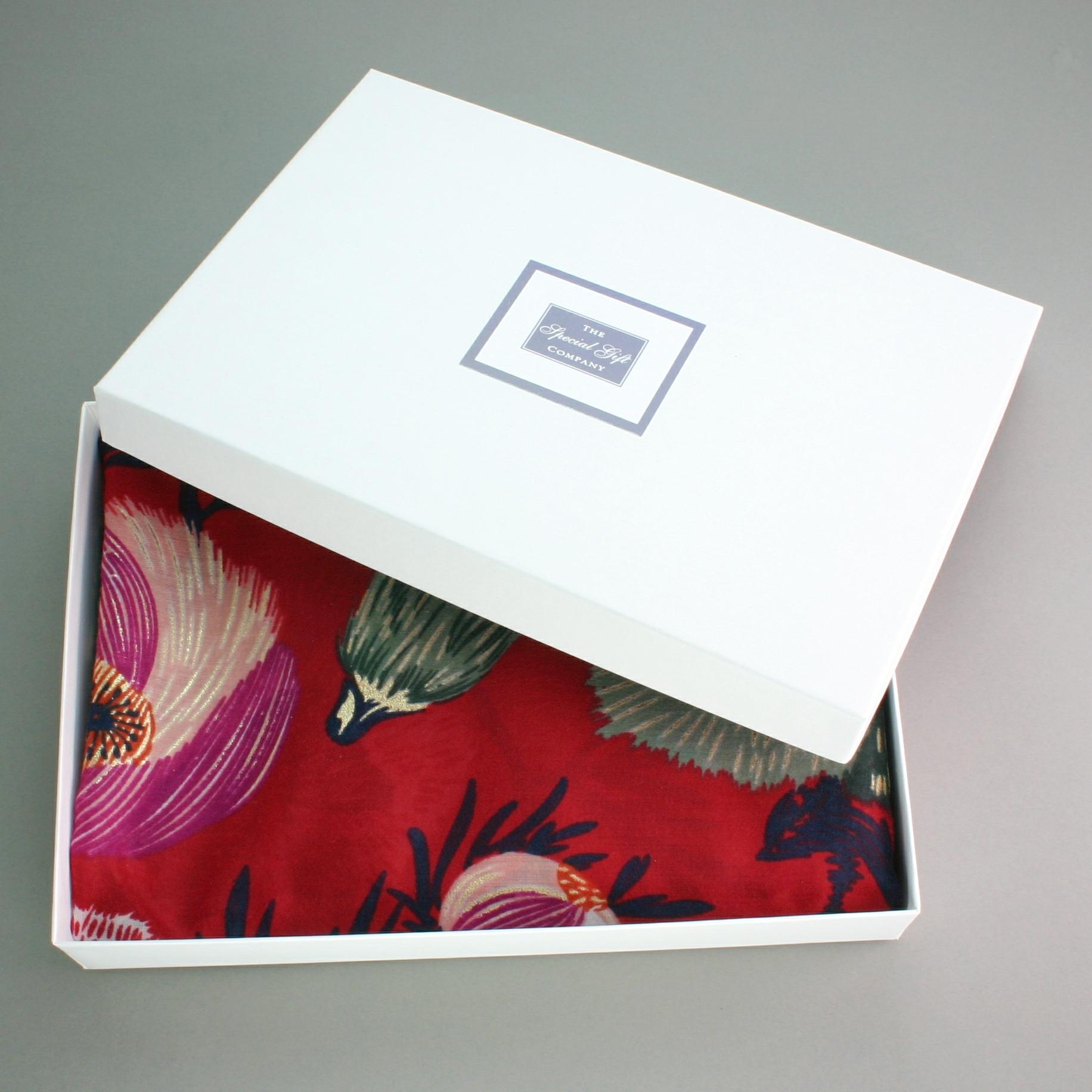 Poppy Scarf Gift Box, Great Gift For Birthdays