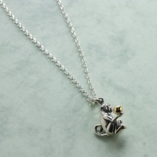 Silver Monkey Pendant