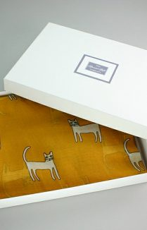 Cat Scarf Boxed, Sketch Cat Scarf