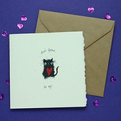 CAT VALENTINE'S CARD