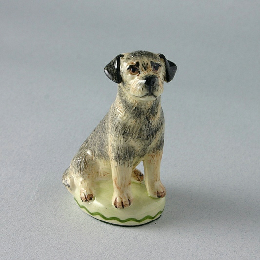 Border Terrier China Dog Figure Miranda C Smith, Special Gift Company