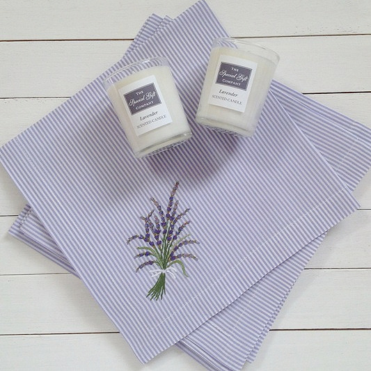 Napkin & Candle Gift Set