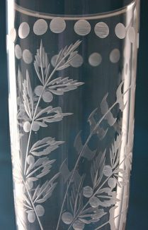 Etched Champagne Glass