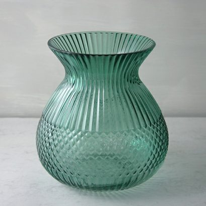 Glass Green Vase
