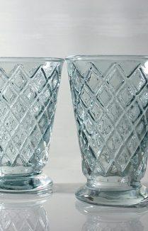 Harlequin Glass Tumblers Blue Grey