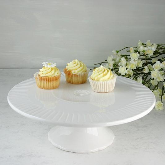 White Cake Stand, White Cake Plate