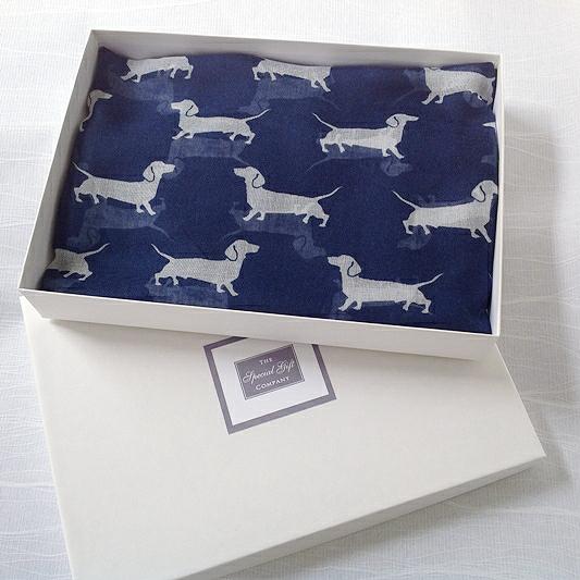 Dachshund Scarf Gift Box