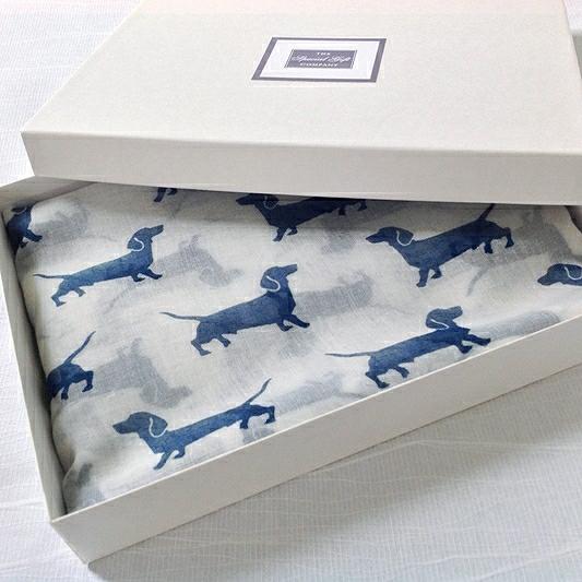 Sauasge Dog Scarf Boxed