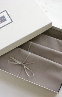 Grey Napkin Set Of Four Boxed