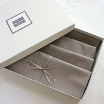 Grey Napkin Set Of Four Boxed