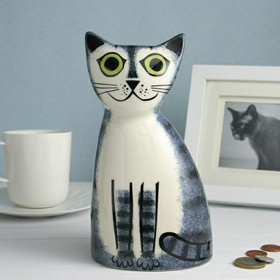 TABBY CAT MONEY BOX