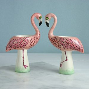 flamingo egg cups