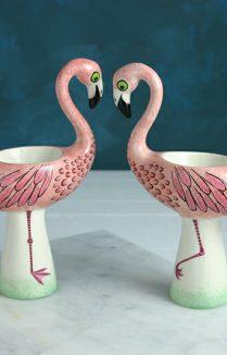 FLAMINGO EGG CUP, Egg Cup, Hannah Turner Ceramic Homewares