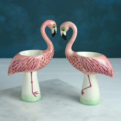 FLAMINGO EGG CUP, Egg Cup, Hannah Turner Ceramic Homewares