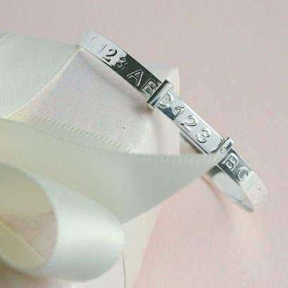 CHILD'S ABC SILVER BANGLE