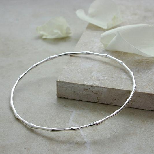 Silver Bamboo Bangle