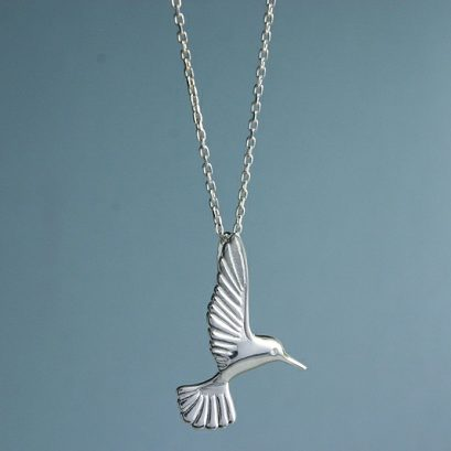 SILVER HUMMINGBIRD PENDANT