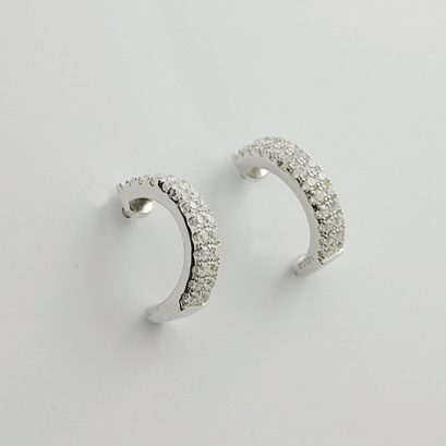 HALF HOOP CUBIC ZIRCONIA EARRINGS