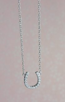 Lucky Silver Horseshoe Necklace, Delicate Jewellery, Silver Horseshoe