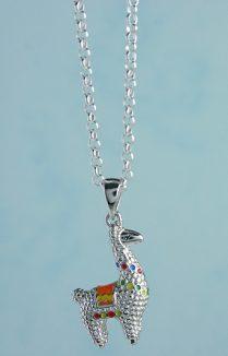 Llama Silver Pendant